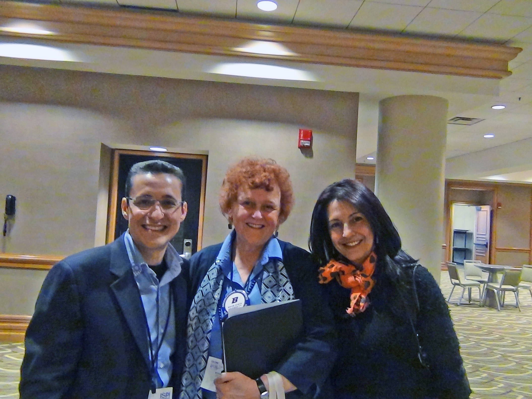 Judy Hale with Jorge & Martha C from ISPI Colombia