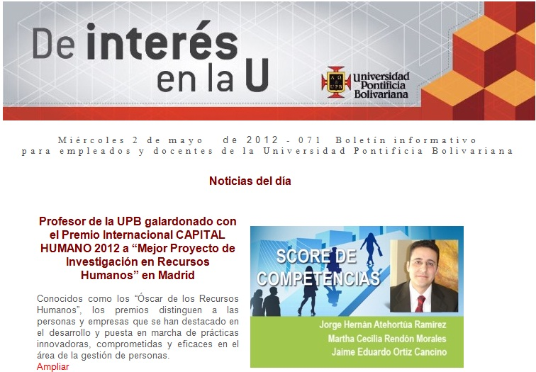 Jorge Hernán Atehortúa R., Martha Cecilia Rendón M. y Jaime Eduardo Ortiz C.